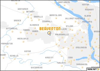 Beaverton United States USA map nonanet
