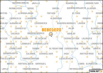 map of Bebedero