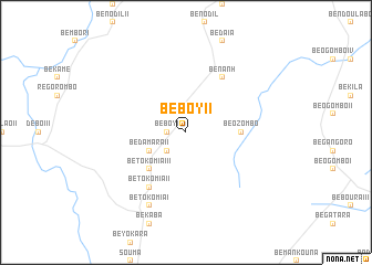 map of Beboy II