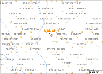 map of Becefa