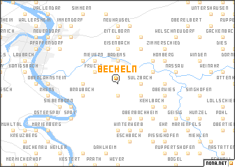 map of Becheln