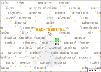 map of Bechtsbüttel