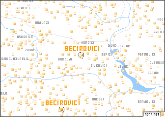 map of Bećirovići