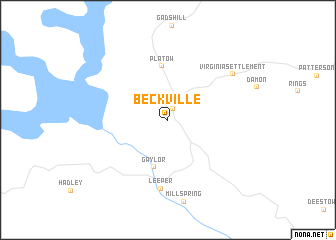 map of Beckville