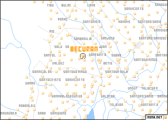 map of Becuran