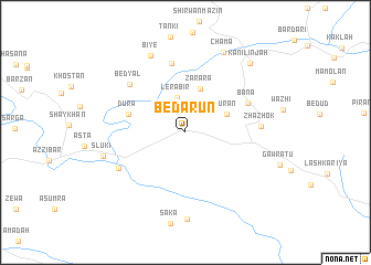 map of Bēdārūn