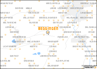 map of Beddingen