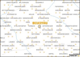 map of Bedernau