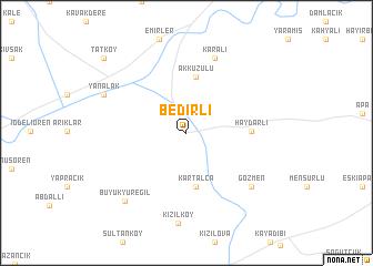 map of Bedirli
