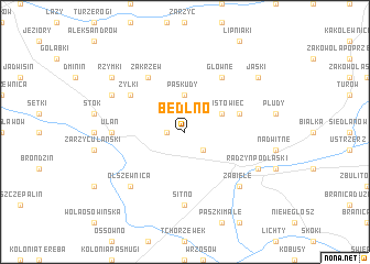 map of Bedlno