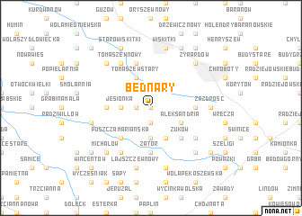 map of Bednary