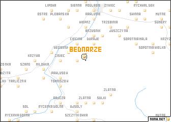 map of Bednarże