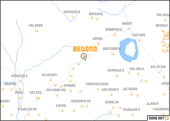 map of Bedono