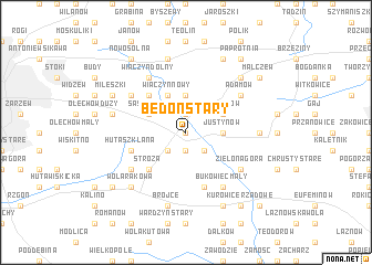 map of Bedoń Stary