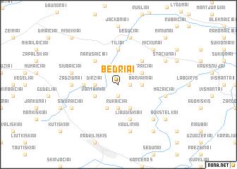 map of Bedriai
