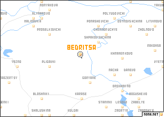 map of Bedritsa