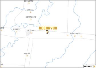 map of Bee Bayou
