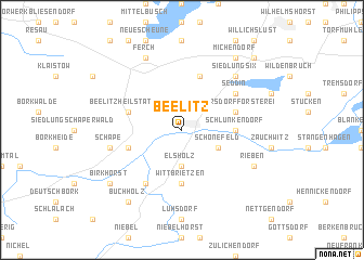 map of Beelitz