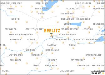 map of Beelitz