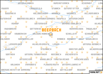 map of Beerbach
