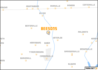 map of Beesons