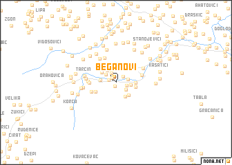 map of Beganovi