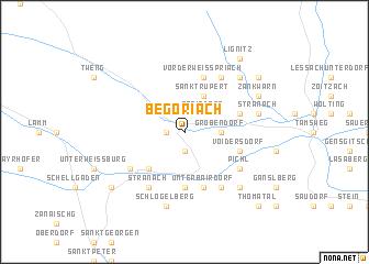 map of Begöriach