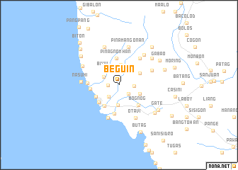 map of Beguin