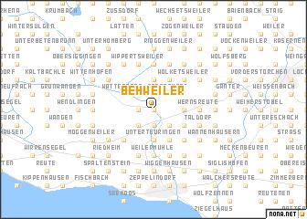 map of Behweiler