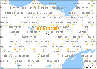 map of Beidendorf