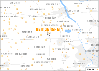 map of Beindersheim