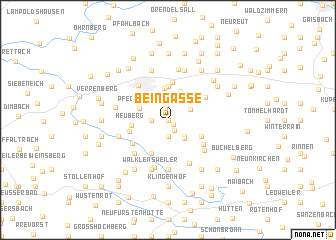 map of Beingasse