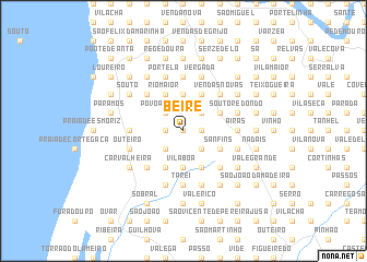 map of Beire