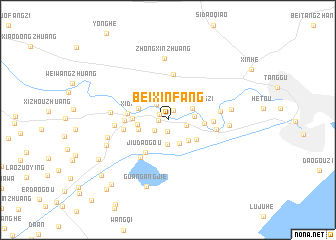 map of Beixinfang
