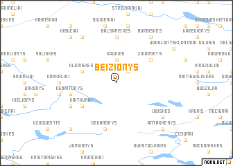 map of Beižionys