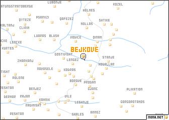 map of Bejkovë