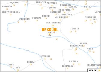 map of Bekāvol