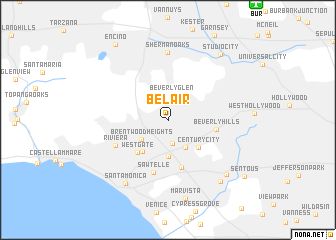 Bel Air (United States   USA) map   nona.net