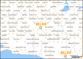 map of Bel-Air