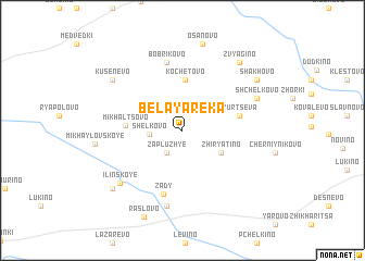 map of Belaya Reka