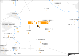 map of Belaya Yaruga