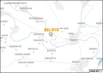 map of Belaya
