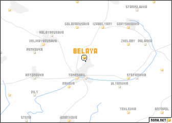 map of Belaya