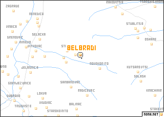 map of Belbradi°