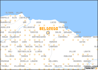 map of Beldredo