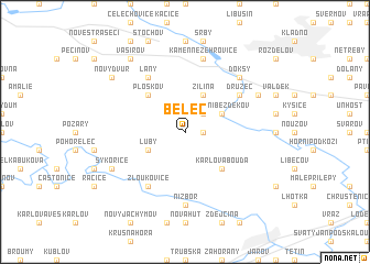 map of Běleč