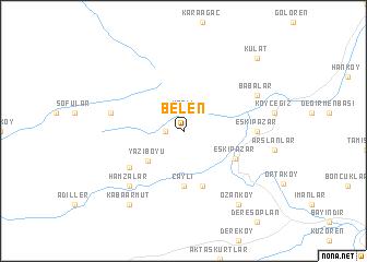 map of Belen