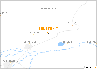 map of Beletskiy