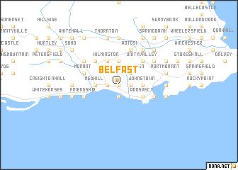 map of Belfast