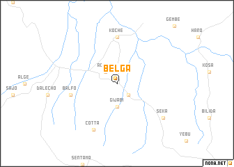map of Belga